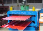 China Galvanized Metal Double Layer Roofing Sheet Roll Forming Machine / Roll Former Machinery factory