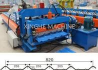 China 820 Model Automatic Glazed Tile Steel Profile Bending Forming Machine factory
