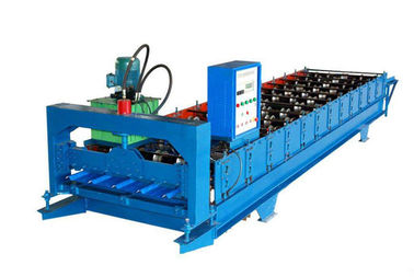 Color Coated Wall Panel Roll Forming Machine , Roofing Sheet Making Machine