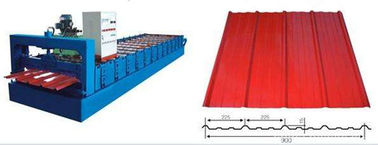 Galvanized Glazed Tile Roll Forming Machine With 8 - 12m / Min Working Speed