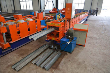 Two Waves Highway Guardrail Roll Forming Machine , Steel Roll Forming Machine