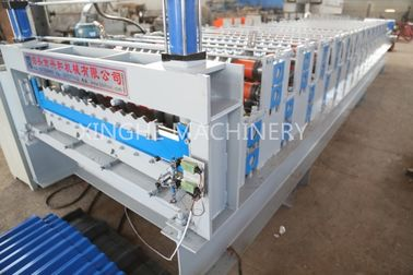 European Style Roof Panel Roll Forming Machine , Partial Arc Color Steel Roof Tile Downpipe Glazed Tile