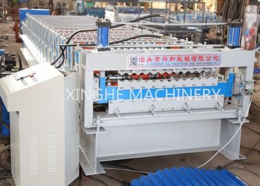 Corrugated Wall Panel Roll Forming Machine , Aluzinc Double Layer Roofing Sheet Roll Forming Machine