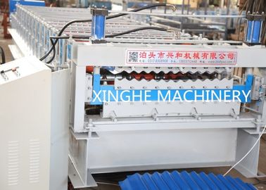 Double Layer Roll Forming Machine , Metal Roofing Corrugated Steel Sheet Wall Panel Tile Making Machine