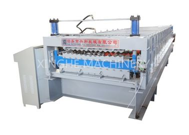 Aluminum Roof Sheet Double Layer Roll Forming Machine , IBR Step Tile Roll Forming Machine