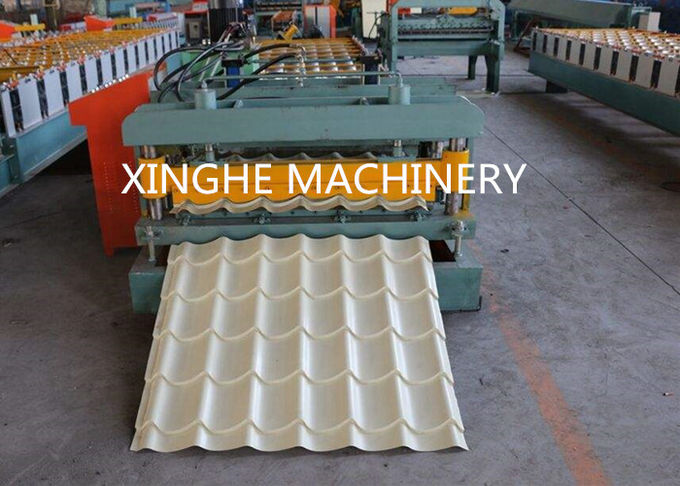 Circle Arc Glazed Tile Roll Forming Machine , PPGI Roofing Sheets Machine