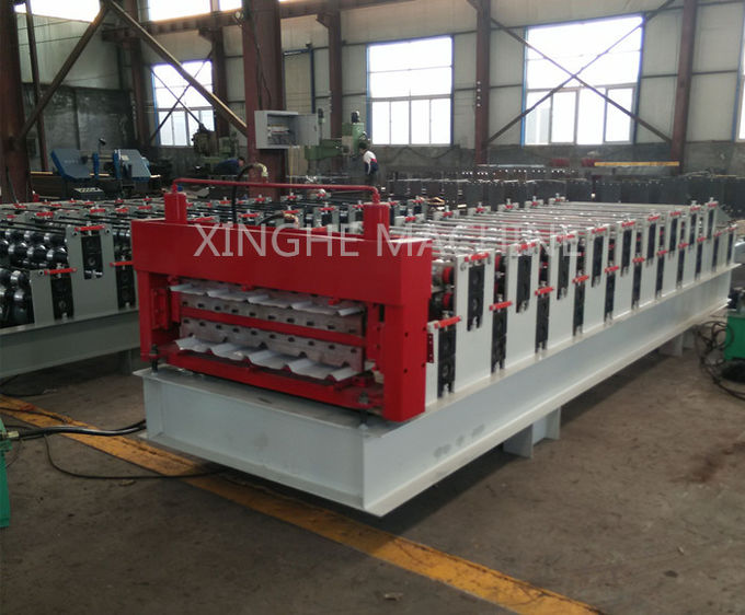 Electric Control Double Layer Roll Forming Machine , Cnc Roll Forming Machine
