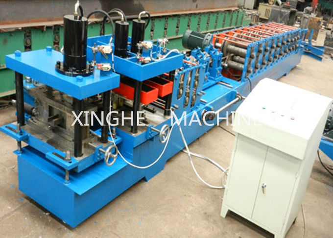 Colored Steel Sheet Metal Roll Forming Machine With Hydraulic Cutter Machine