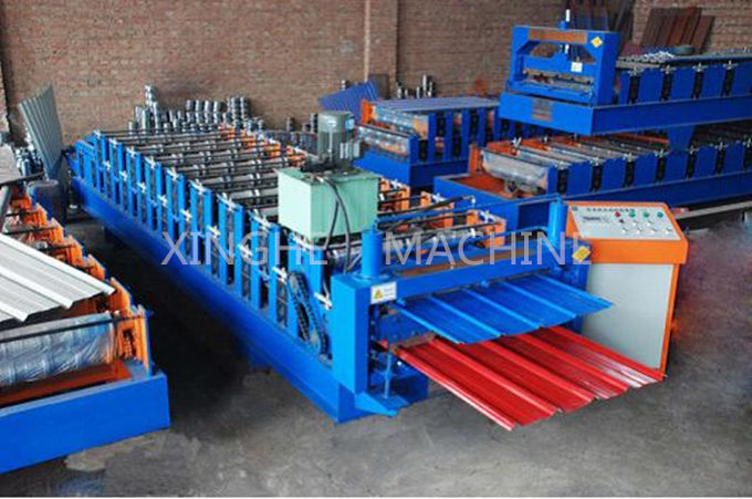 PPGI Steel Double Layer Roll Forming Machine For Making Factory Wall Panel