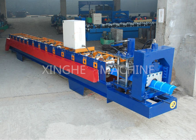 Aluminum Ridge Cap Roll Forming Machine , Glazed Tile Roll Forming Machine