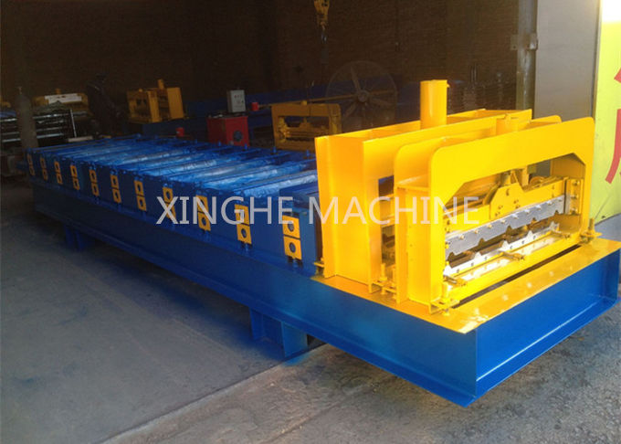 Industrial Aluminum Step Tile Roll Forming Machine With Metal Slitter Machine