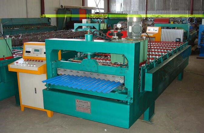 Automatic Wall Panel Roll Forming Machine , Sheet Metal Roll Forming Machine