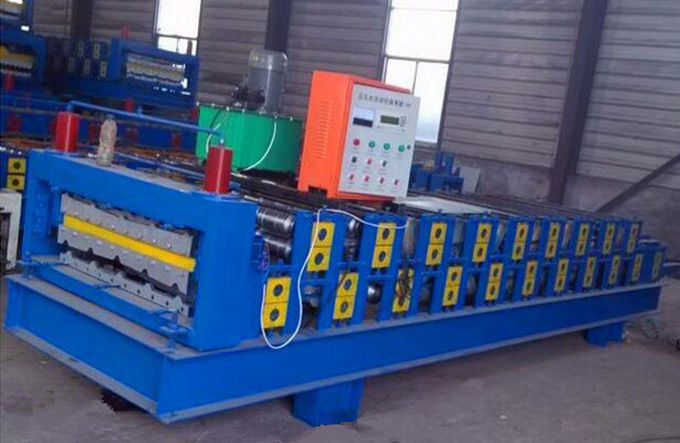Easy Installation Double Layer Roll Forming Machine , Tile Forming Machine