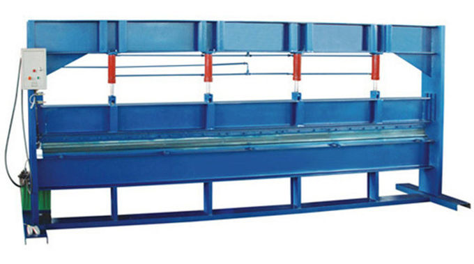 Blue Color 4m Width Hydraulic Sheet Bending Machine For Galvanized Steel Coil