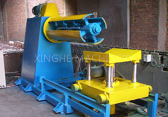 High Speed Roll Forming Production Line Decoiler Machine With Forming Cutter