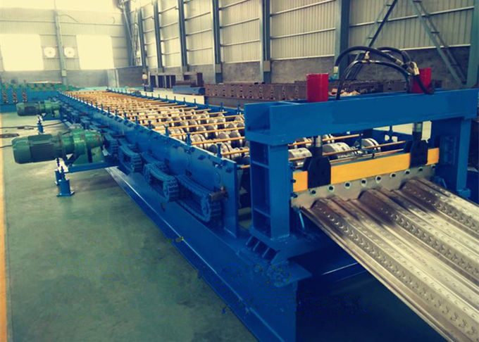380V Galvanized Steel Floor Deck Roll Forming Machine With 23 Rows Rollers