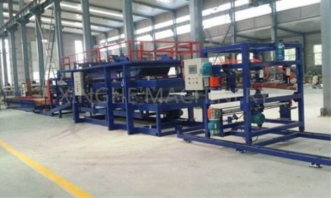 Eps / Rock Wool Sandwich Wall Panel Roll Forming Production Line / Machine