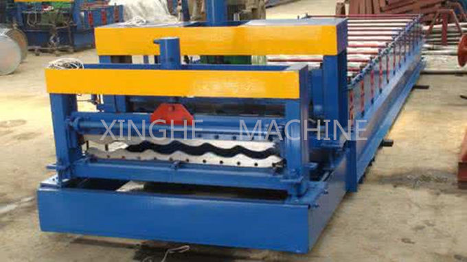 Updated Tech Automatic High speed Glazed Steel Roof Tile Roll Forming Machine 828