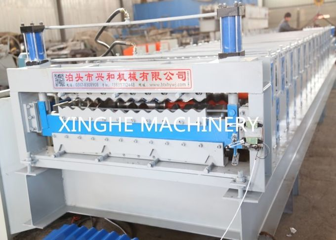 Stepped Sheet Roofing Tile Forming Machine Ibr Roof Panel Forming Machine