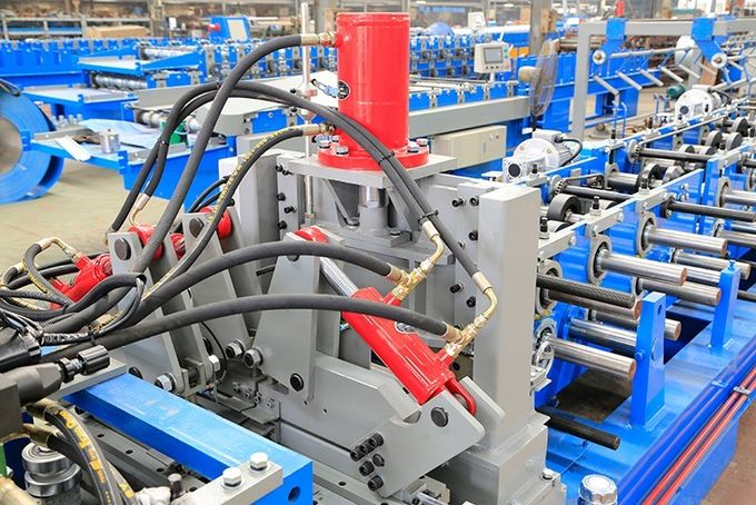 3 Cylinder Cable Tray Roll Forming Machine , Steel Stud Roll Forming Machine