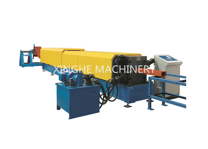 Frequency Control Downspout Roll Forming Machine With Hydraulic Cutting Machine